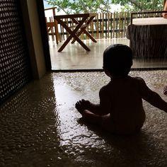 Loving the open rain shower.