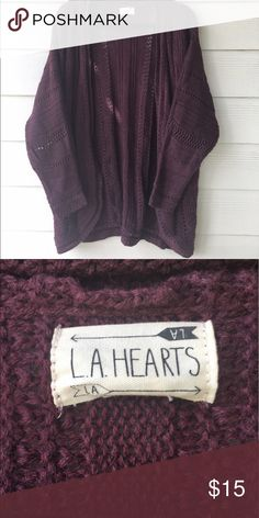 NWOT Crochet Maroon Cardigan It's just light enough for this spring time weather! LA Hearts Sweaters Cardigans
