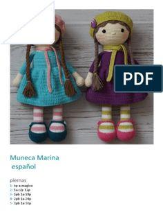 Fantasía rosa y turquesa Crochet Dolls Free Patterns, Doll Patterns, Crochet Bunny, Crochet Yarn, Free Crochet, Diy Crafts Crochet, Crochet Projects, Crochet Basics, Diy Doll