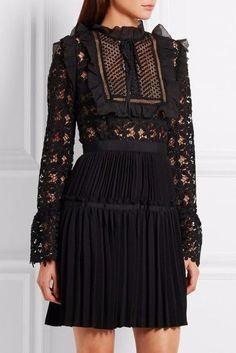 SOOO CUTE!!! Long Sleeve Black Lace Mini Dress