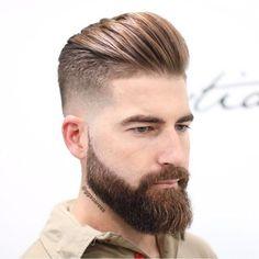 Hair styles men pompadour ideas for 2019 Combover Hairstyles, Mens Hairstyles Pompadour, Pompadour Men, Cool Hairstyles, Greaser Hairstyle, Mullet Hairstyle, Medium Hairstyles, Wedding Hairstyles, Beard Styles For Men