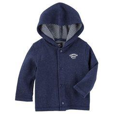 Baby Boy OshKosh B'gosh® Hooded Cardigan, Light Grey