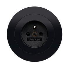 Stopcontact - zwart