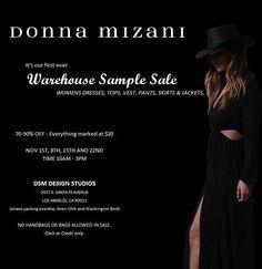 Donna Mizani Sample Sale Underway | ModaMob