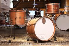 A&F 3pc Mahogany Club Drum Set w/ Wood Hoops
