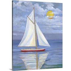 Sailboat Drawing, Sailboat Painting, Easy Canvas Painting, Abstract Canvas, Canvas Art, Canvas Prints, Art Prints, Acrylic Paintings, Nautical Painting