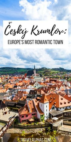 Take a day trip to the most romantic fairytale town in the Czech Republic, called Český Krumlov, which is just a few hours south of Prague! Here's everything you need to know before you go!