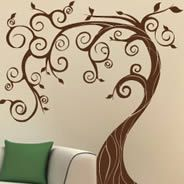 I love this tree... I could do this myself.  Then the kids could add the blue birds from the other picture.