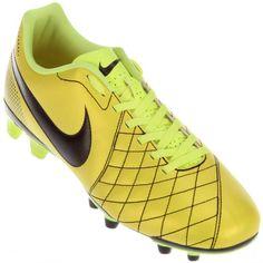 Chuteira Nike Flare FG Campo Masculina Amarela Limão