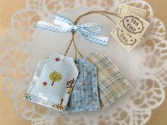 fabric tea bags - filled with lavender!  Cute gift idea