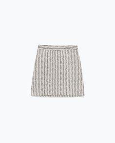 Image 7 of A-LINE JACQUARD MINI SKIRT from Zara
