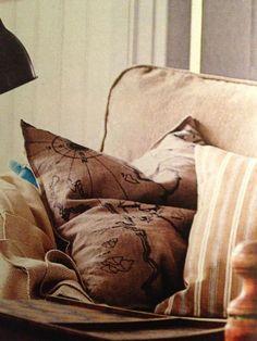 "IKEA 2013 ""Benzy Land"" map pillow."