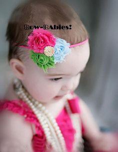 Lollipop Punch Vintage Newborn Baby Headband