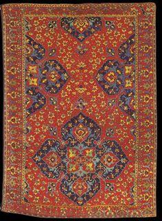Turkish Medallion Rug, Variant Star Ushak style, Ottoman period, 16th century, Ballard Collection, St Louis Museum