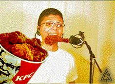 Just eating some chicken - funny ghetto pictures, funny pictures, ratchet pictures