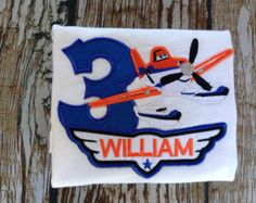 Planes Fire and Rescue inspired custom embroidered personalized birthday shirt Planes Birthday, Disney Planes, Personalized Birthday Shirts, Vintage Marketplace, Stitch, Handmade Gifts, Fire, Inspired, Birthday Ideas