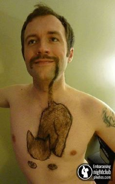 The cat-Amazing body hair art