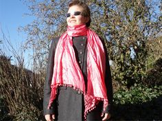 #PINK #SCARF Gin-Berry Cocktail  #fashion long by CharmeParisien #spring #trends #rose