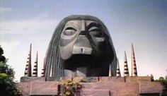 The Great White Sphinx as depicted in this image is where The Time Travelers Machine was stored throughout the Novella.