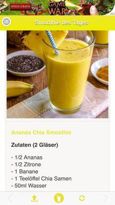 Ananas-Chia-Smoothie Mehr