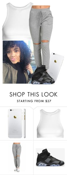 """""""😊☺"""" by xtiairax ❤ liked on Polyvore featuring T By Alexander Wang and NIKE"""
