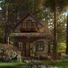 Ok, so the roof material is not Tudor, but the house is so cute! - so the roof material is not Tudor, but the house is so cute! - The Roof House Save Continues in Berlin Danis. Witch Cottage, Cute Cottage, Cottage In The Woods, Witch House, French Country Cottage, Cottage Style, Cute House, Tiny House, Petits Cottages