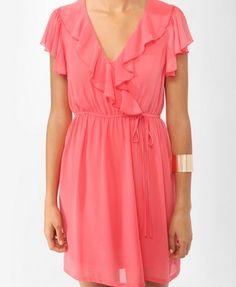 Flounced Surplice Dress  $19.80