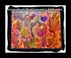 """FALL""ing in LOVE - Ready to hang acrylic artwork 20"" x 16"" stretched canvas by Dr. Angela Kowitz Orobko"
