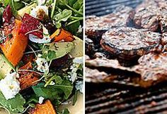 Roasted butternut, beetroot and avocado salad Tomato Salad, Avocado Salad, Roasted Butternut, Roasted Garlic, Braai Salads, Balsamic Reduction, Sugar Snap Peas, Vegetable Salad, Beetroot