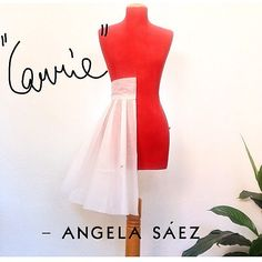 """Mi piace"": 36, commenti: 1 - Angela Romy Saez (@angelaromysaez) su Instagram: ""The ""Carrie"" skirt model studio: gonna a ruota a portafoglio con pieghe a cannone e cintura a…"" Ibiza, Peplum, Studio, Formal Dresses, Instagram, Tops, Women, Fashion, Dresses For Formal"