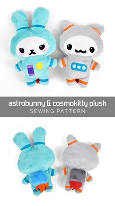 Free sewing tutorial: a simple tiny plush suitable for beginners and lovers of science! ♥