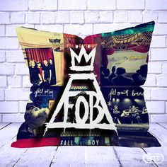 Best fall out boy collage Pillow Cases