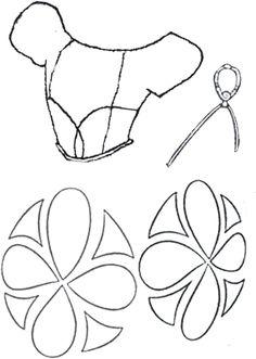 Molde princesa 69 x 42 cm  Corpiño, medallón, adornos falda  Modificado por: Carmen Rabuñal