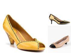 Love the yellow kitten heel! Kitten Heel Slingbacks, Kitten Heel Ankle Boots, Kitten Heel Pumps, Pumps Heels, Yellow Wedding Shoes, Brown Kitten, Shoe Image, Manolo Blahnik, Shoe Boots