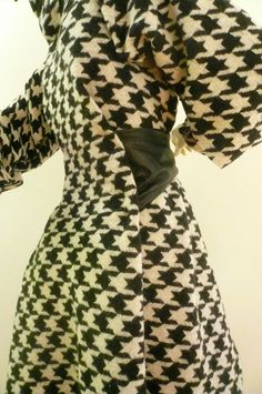 Amazing Maria Severyna Wool Hounds Tooth  & by DDreamCloset, $487.00