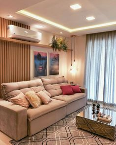Sala clean e moderninha . Home Room Design, Home Design Decor, Living Room Designs, Interior Design, Home Decor, Home Living Room, Living Room Decor, Cozy Room, Beautiful Living Rooms