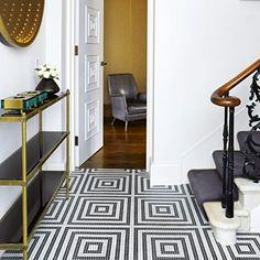 Make your hallway a stylish room of its own with these ideas, including a hallway in a house on London's Portobello Road designed by Carden Cunietti Victorian Hallway, Victorian Tiles, Tiled Hallway, Hall Tiles, Hallway Furniture, Top Interior Designers, Top Designers, Tile Design, Interior Styling
