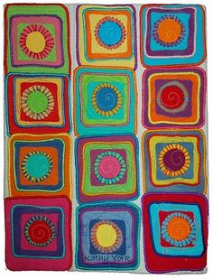 Great quilt and ideas for felted wool blanket.... although I believe this is made with batik fabric.