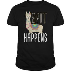 Animals In Human Clothes Calendar funny Llama Spit Happens Premium & Fitted Guys Tee Funny Llama, Alpacas, Mens Fitness, Custom Shirts, Custom Made, Calendar, Just For You, Shit Happens