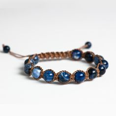 This bracelet is all about positive energy and style. Beautiful, blue Sodalite brings order and calmness to the mind. It encourages intuition, truth and self-acceptance. Shop now.