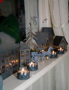 Candle lit Christmas scenery