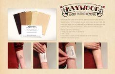 Acción de marketing directo para dar a conocer el servicio que ofrece esta clínica para borrarse los tatuajes que ya no quieres tener! De Innocean Worldwide para Baywood Clinic