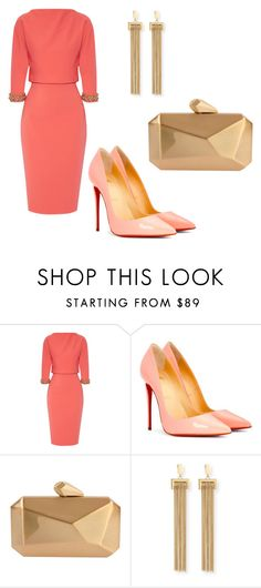 """Untitled #67"" by nigar990 ❤ liked on Polyvore featuring Badgley Mischka, Christian Louboutin, Armitage Avenue, Chloé and WardrobeStaples"
