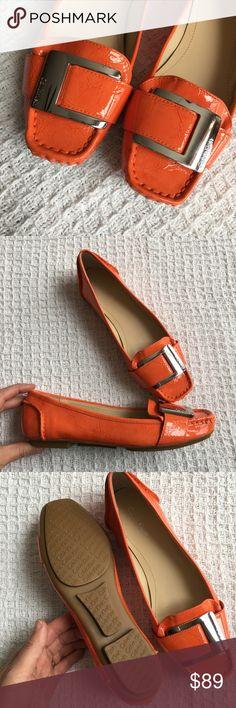 Calvin Klein Orange Monet Slip On Shoes New no box. Size 6.5 M. Calvin Klein Shoes Flats & Loafers
