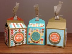 Blog Hop, Retro Fresh, Tag Topper Punch boxes, Starburst Sayings and Framelits too.