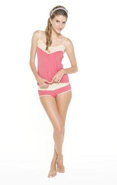 Jacinta: Baby doll de algodón con encaje