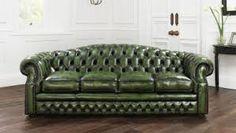 green chesterfield sofa - Google Search