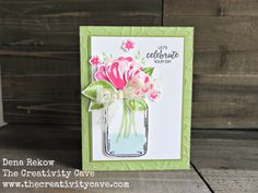 Amazing Video for this card on my blog, www.thecreativitycave.com using Stampin Up's Jar of Love stamp set and Bunch of…