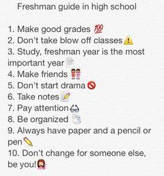 Incoming Freshman Tips While In High School
