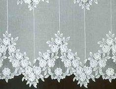 Victorian lace tearose curtain